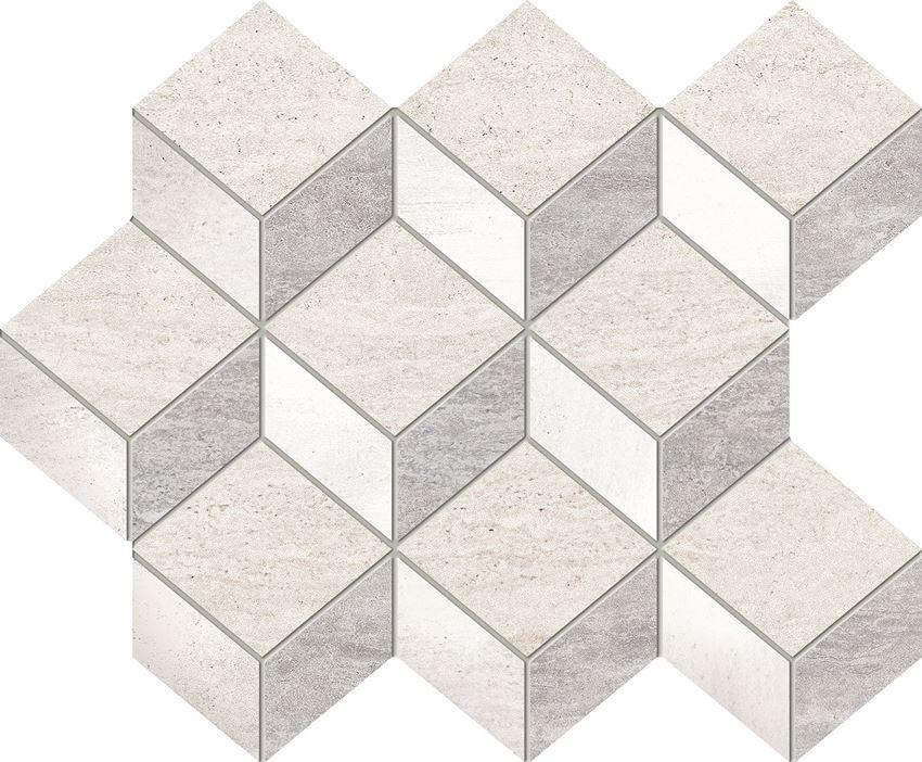 Mozaika ścienna 29,8x24,5 cm Domino Blink grey