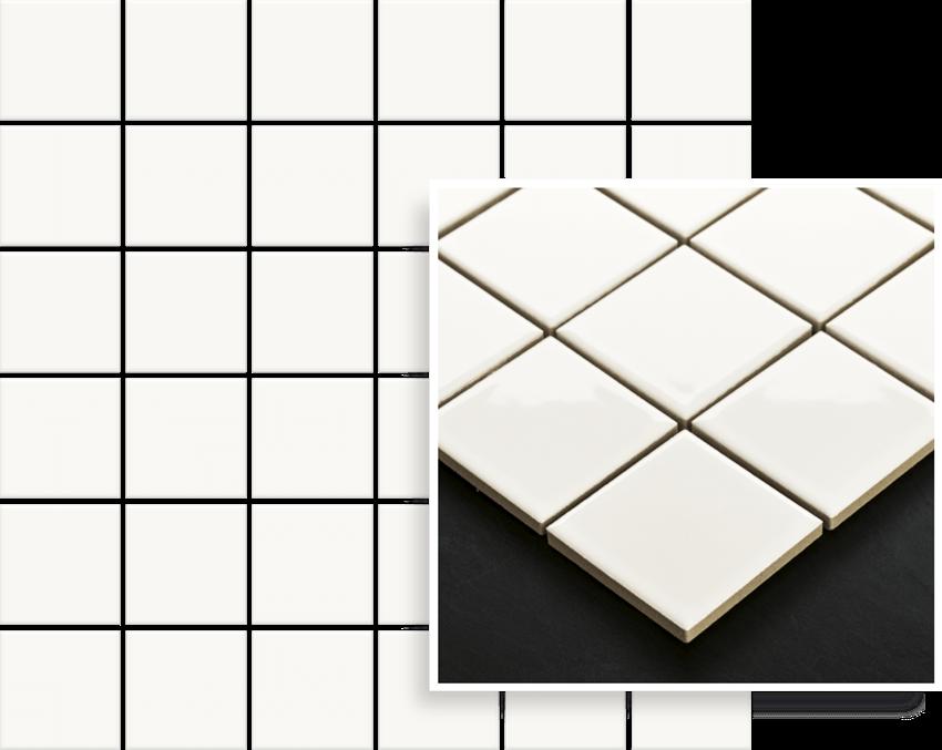 Mozaika 29,8x29,8 cm Paradyż Altea Bianco Mozaika Prasowana K.4,8X4,8