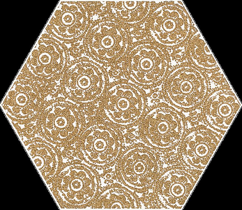 Dekoracja 17,1x19,8 cm Paradyż Shiny Lines Gold Heksagon Inserto F