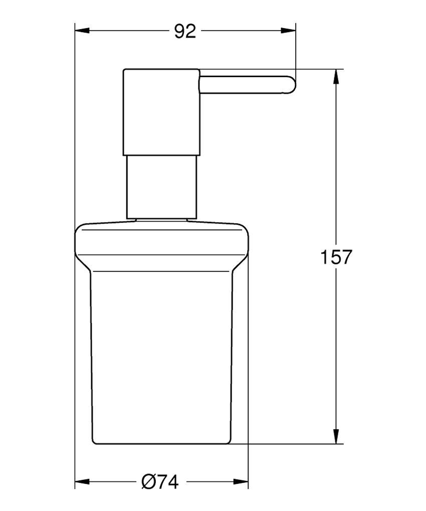 Dozownik Grohe Essentials rysunek techniczny