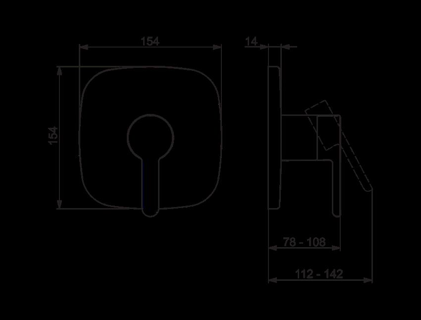 Element natynkowy do baterii natryskowej Oras Inspera rysunek