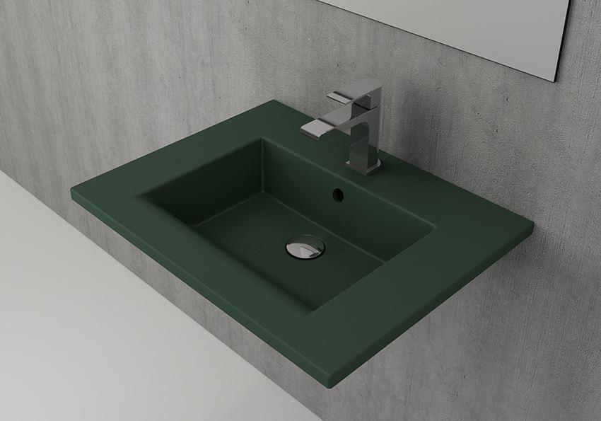 Umywalka ścienna/meblowa/nablatowa 60 cm Matte Green Bocchi Milano