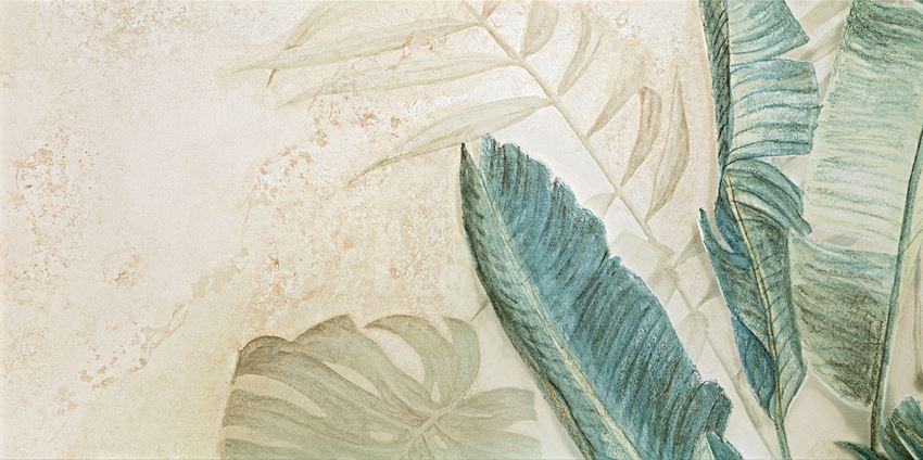Obraz gresowy 59,8x119,8 cm Domino Alabaster Shine Element 3 leaves A