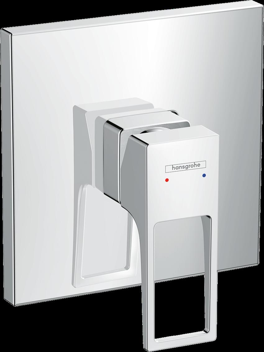 Jednouchwytowa bateria prysznicowa montaż podtynkowy element zewnętrzny Hansgrohe Metropol