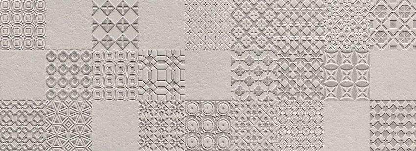 Dekor ścienny 89,8x32,8 cm Tubądzin Integrally grey