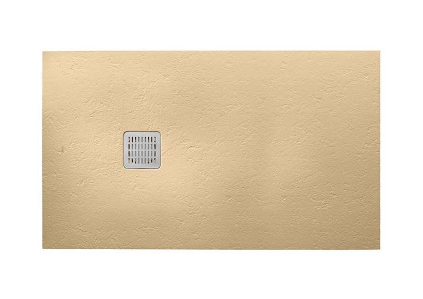 Prostokątny brodzik kompozytowy kremowy STONEX® Roca Terran