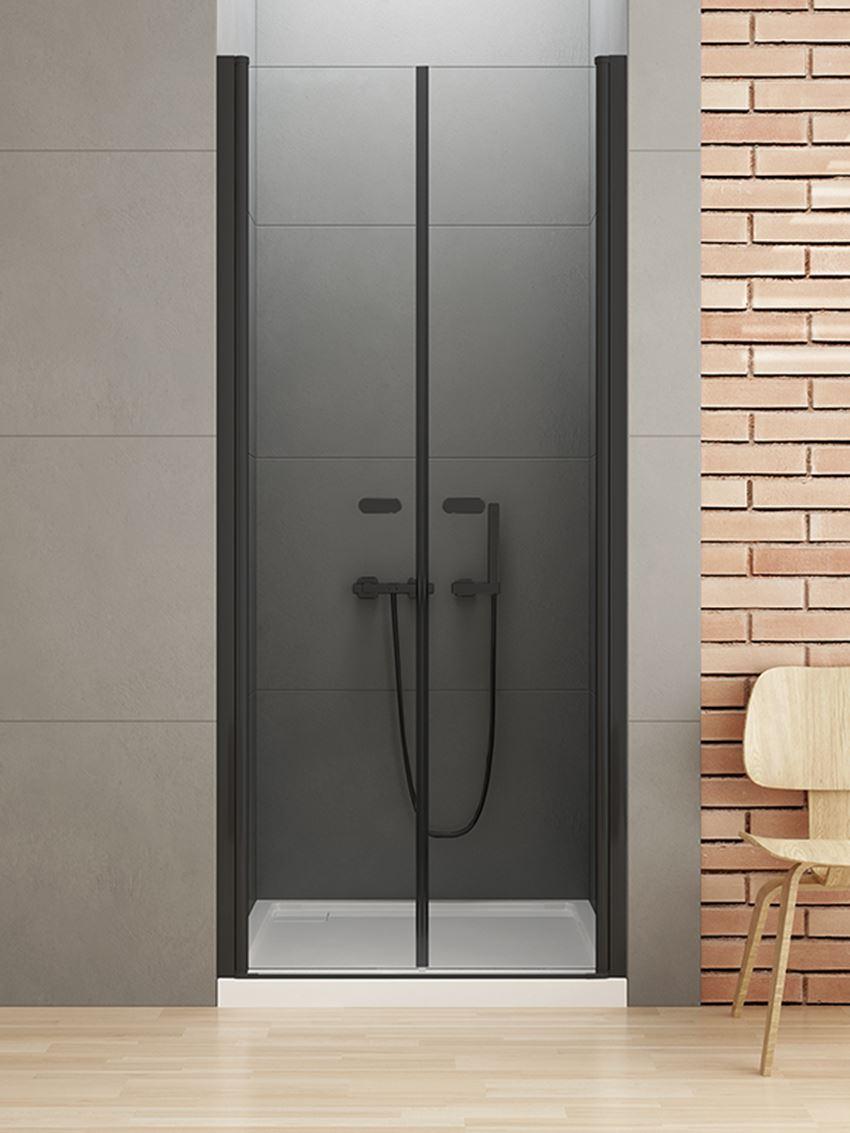 Drzwi podwójne do prysznica New Trendy New Soleo Black
