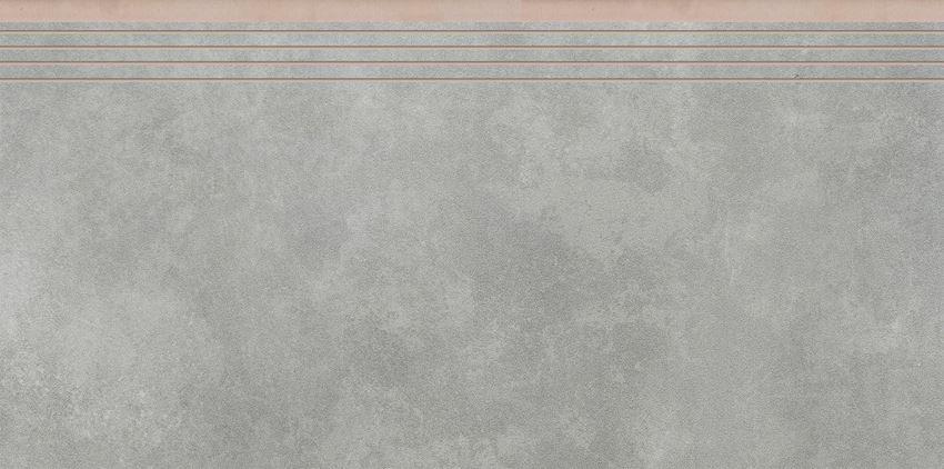Płytka stopnicowa 29,7x59,7 cm Cerrad Apenino gris