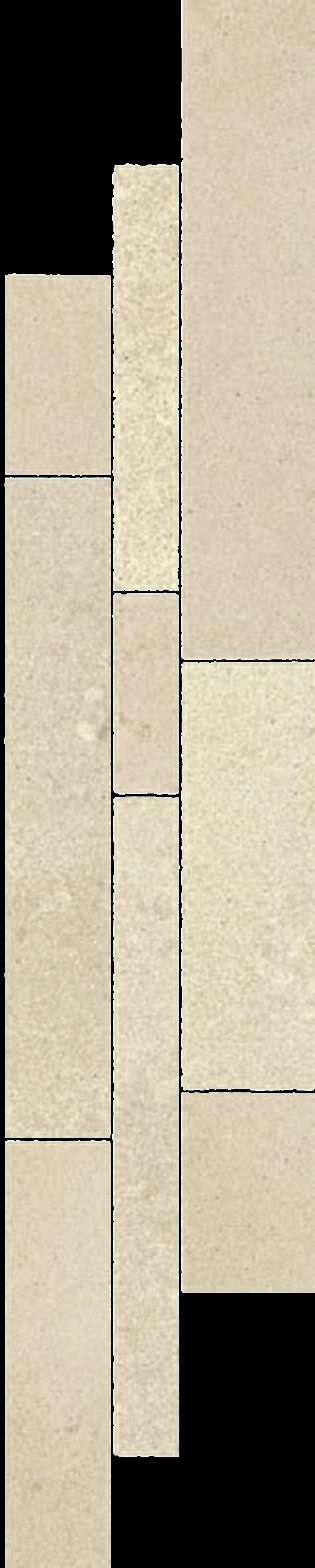 Dekoracja podłogowa 14,3x71 cm Paradyż Naturstone Beige Listwa Mix Paski