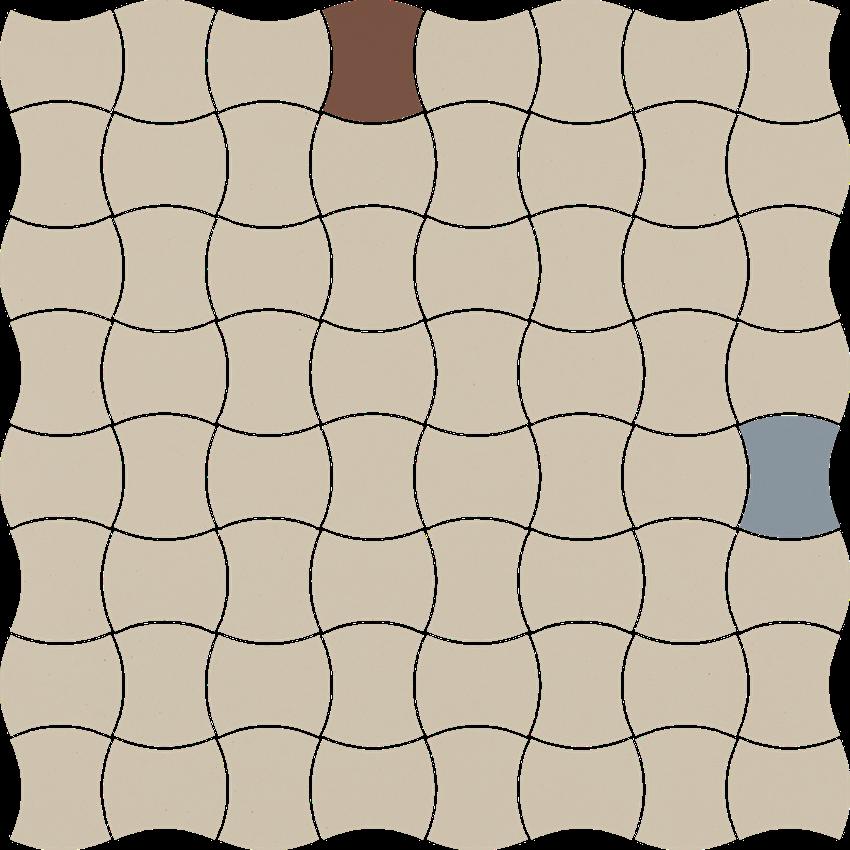 Mozaika 30,9x30,9 cm Paradyż Modernizm Bianco Mozaika Prasowana