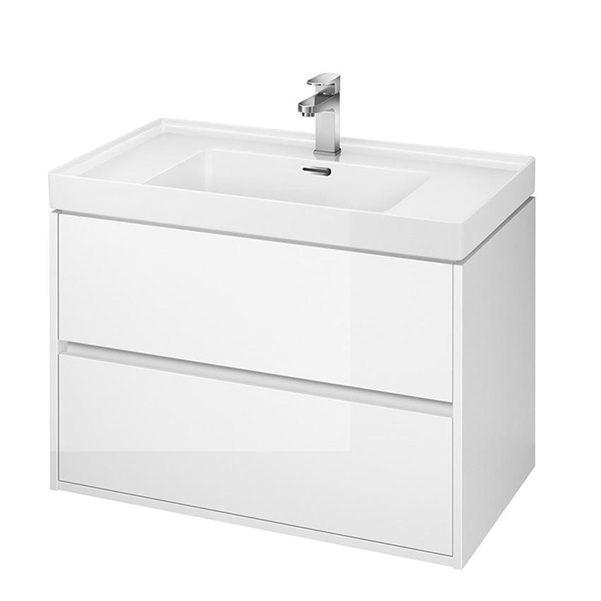 Szafka z umywalką biała 80 Cersanit Crea