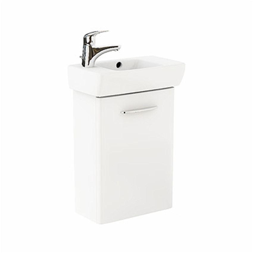 Szafka z umywalką 45 cm biały połysk Koło Nova Pro