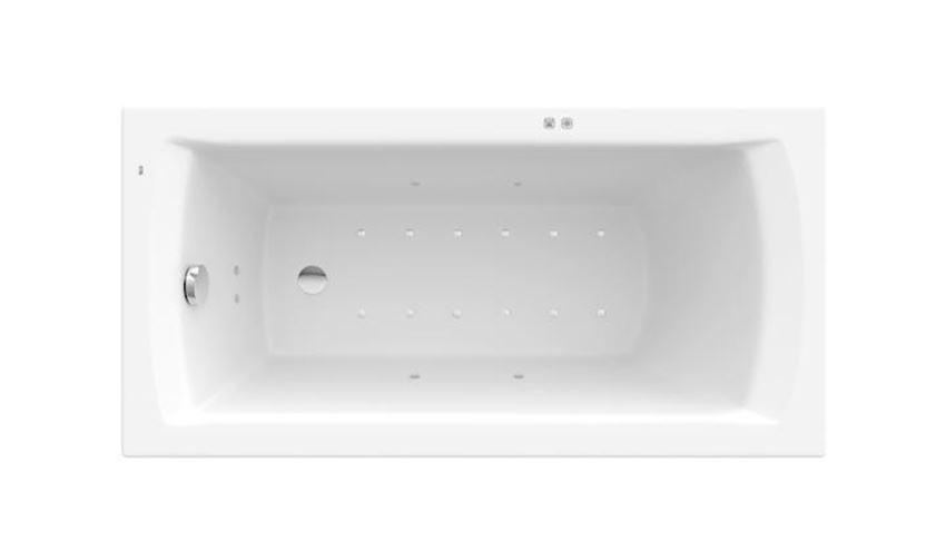 Prostokątna wanna akrylowa z hydromasażem Smart Air Plus Roca Linea