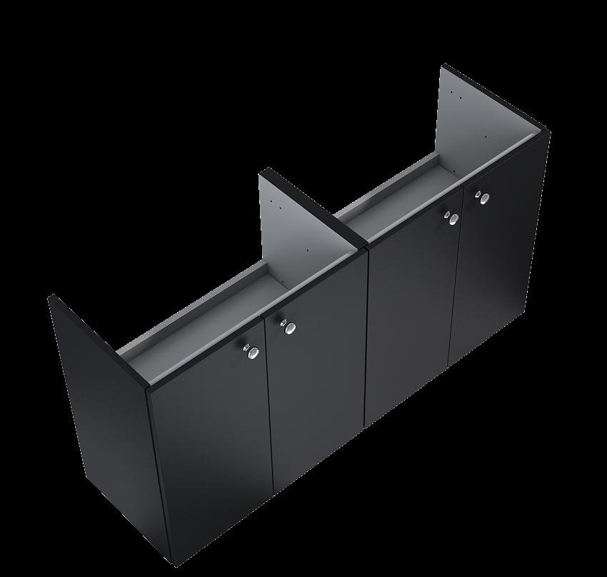 Szafka podumywalkowa 60 cm Elita Kido 2D Black Matt