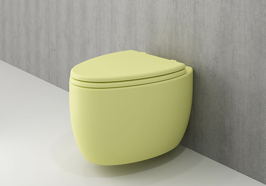 Miska WC wisząca bez deski Matte Yellow Bocchi Etna