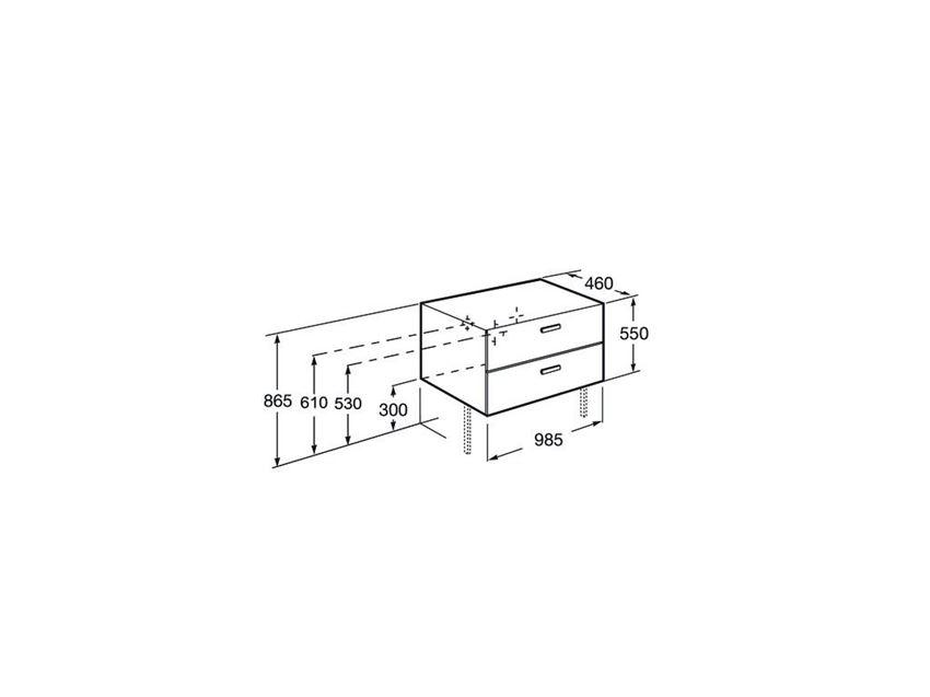 Szafka łazienkowa 100 cm Roca Victoria Basic rysunek