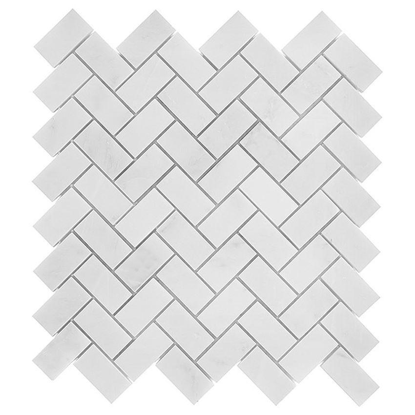 Mozaika 30,5x30,5 cm Dunin Black&White Eastern White Herringbone 48