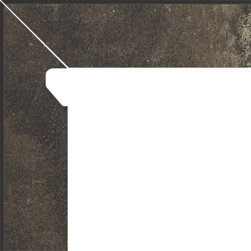Płytka cokołowa 8,1x30 cm  Paradyż Scandiano Brown Cokół 2 El.-Lewy