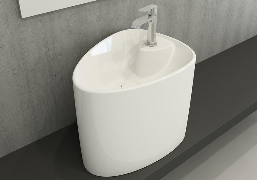 Umywalka nablatowa monoblok Glossy White Bocchi Etna