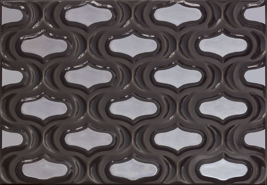 Dekor ścienny 36x25 cm Domino Opium grafit