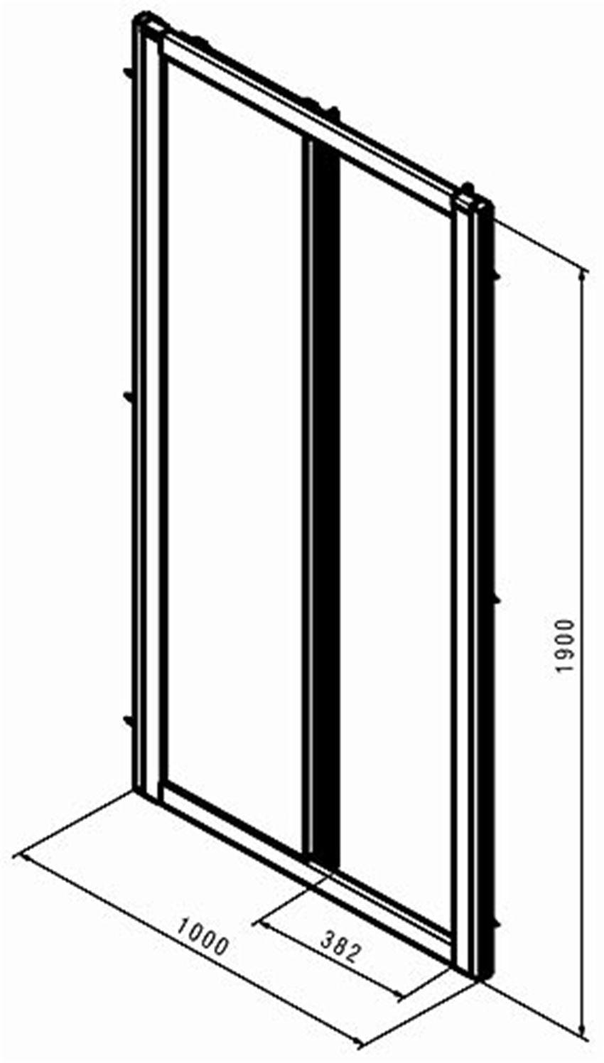 Drzwi przesuwne 100  Koło Geo rysunek techniczny