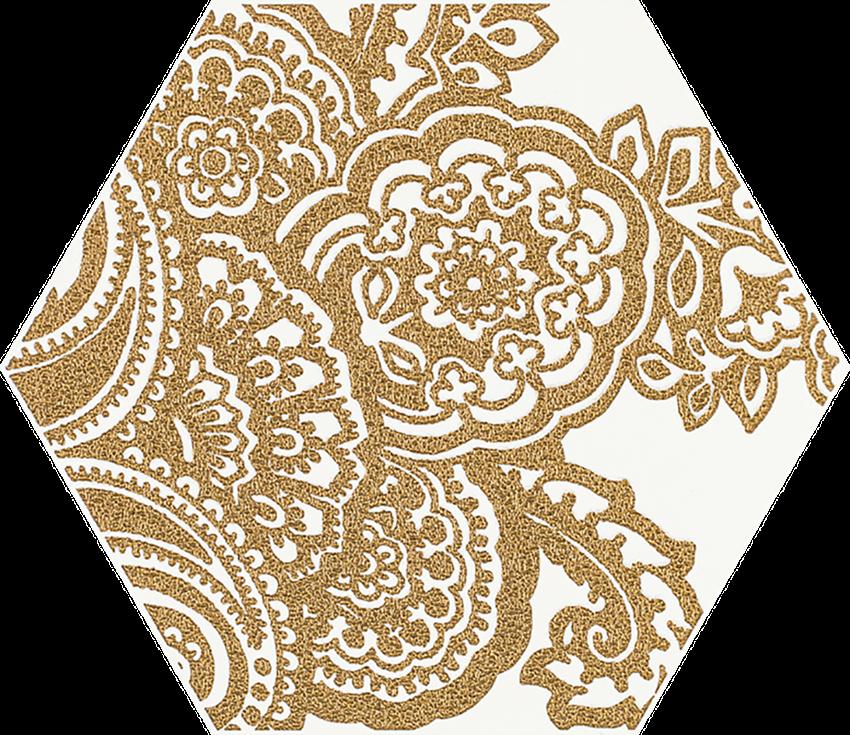 Dekoracja 17,1x19,8 cm Paradyż Shiny Lines Gold Heksagon Inserto B