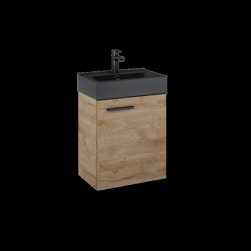 Szafka z umywalką 45 cm Elita Tiny 45 1D Canela Oak