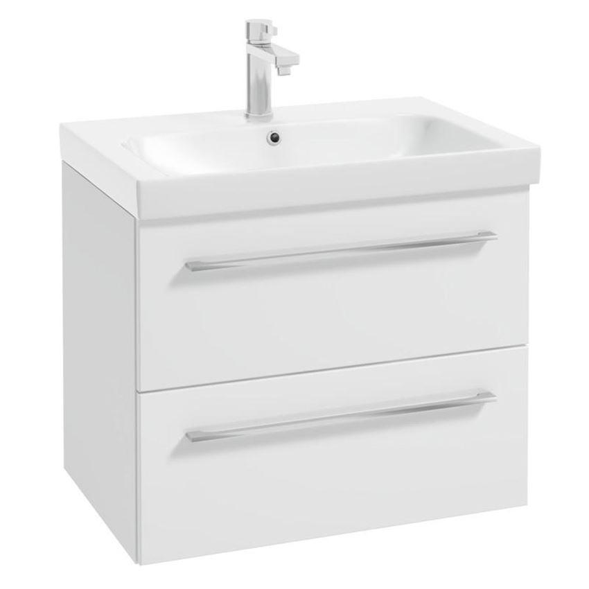 Zestaw szafki z umywalką 65x16x45 cm Azario Neo D65 L3062 white