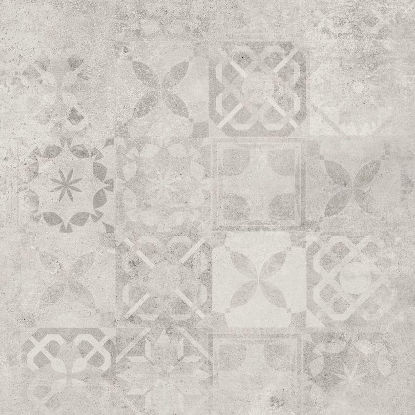 Płytka dekoracyjna 60x60 cm Cerrad Softcement white patchwork Poler