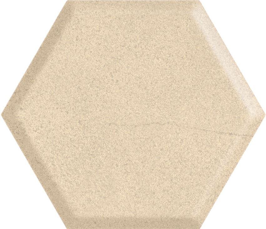 Płytka ścienna 17,1x19,8 cm Paradyż Serene Beige Heksagon Struktura Ściana