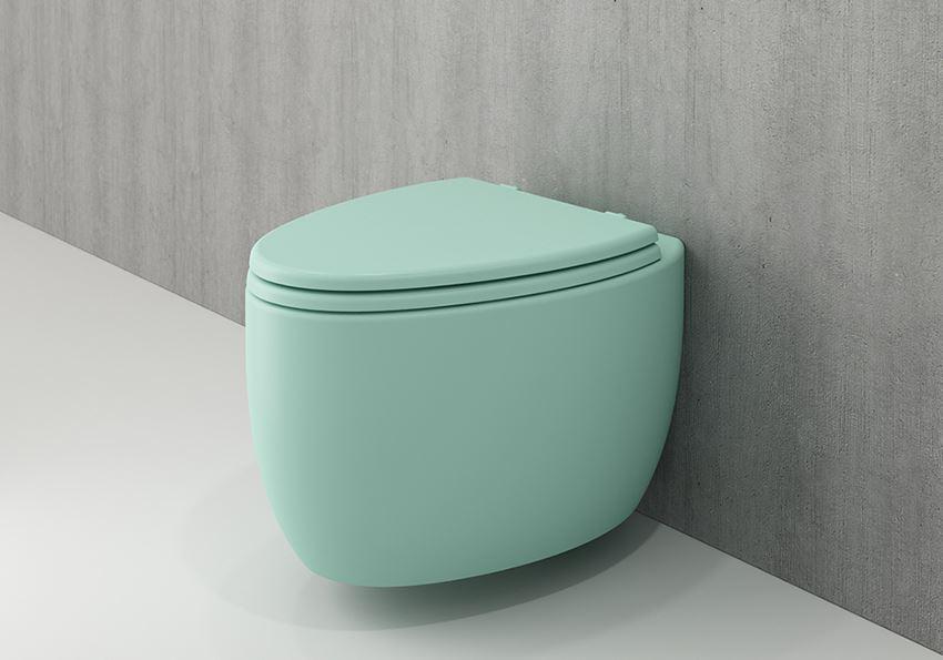 Miska WC wisząca bez deski Matte Mint Green Bocchi Etna