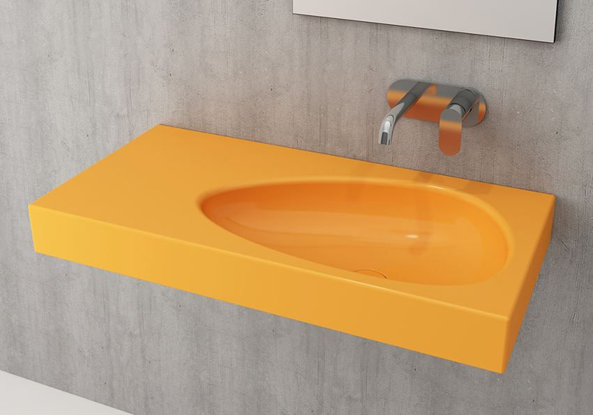 Umywalka ścienna/meblowa/nablatowa Glossy Tangerine Bocchi Etna