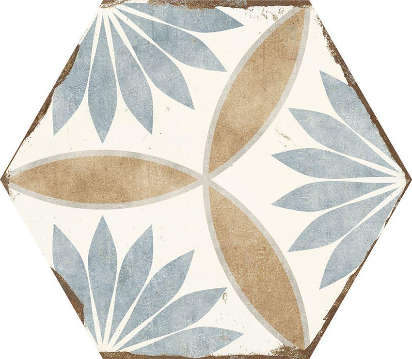 Płytka dekoracyjna 21x25 cm Azario Bohemia Miranda Gres Mat