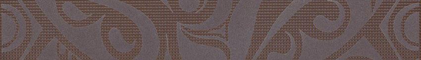 Listwa 5x35 cm Cersanit Optica brown border circles