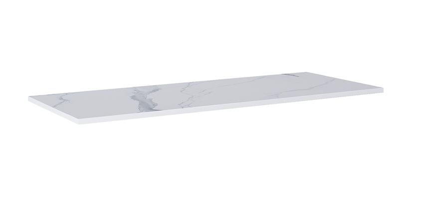 Blat naszafkowy pełny 140(70+70) cm Elita ElitStone MARMUR CALACATTA WHITE MATT