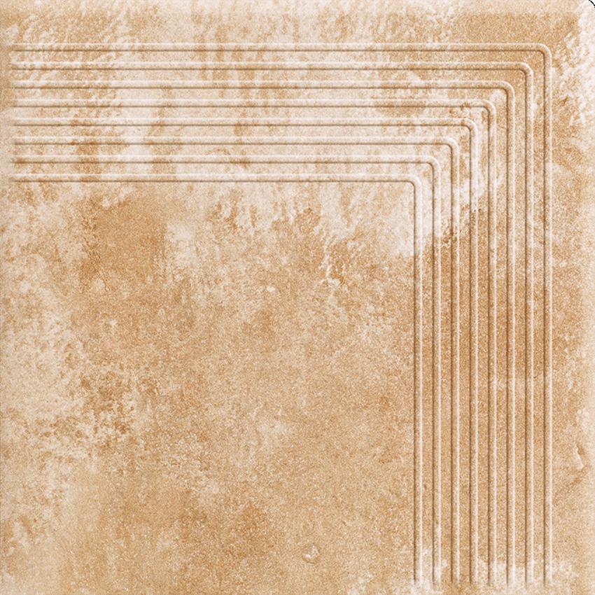 Płytka stopnicowa 30x30 cm Paradyż Ilario Beige Stopnica Narożna