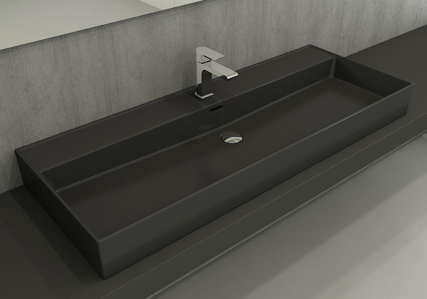 Umywalka meblowa/nablatowa/wisząca 120 cm Matt Anthracite Bocchi Milano