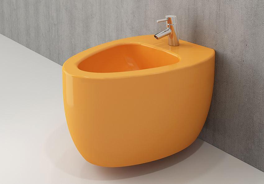 Bidet wiszący Glossy Tangerine Bocchi Etna