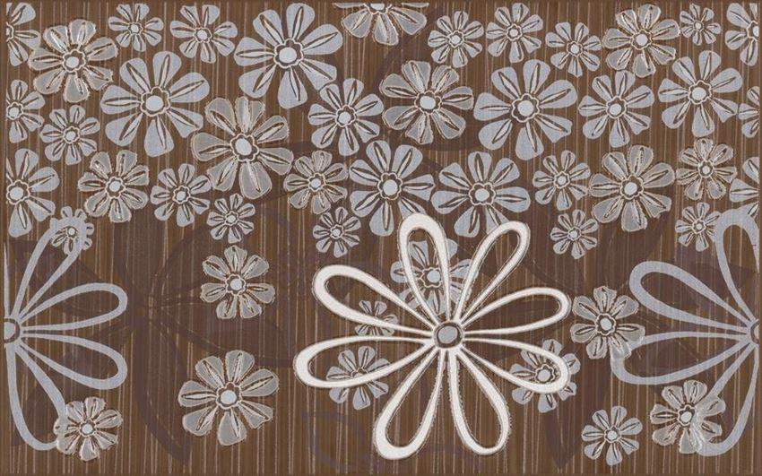 Płytka dekoracyjna 25x40 cm Cersanit Euforia brown inserto flower 3