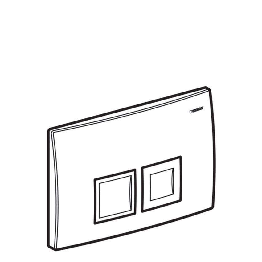 Przycisk spłukujący Geberit Delta rysunek