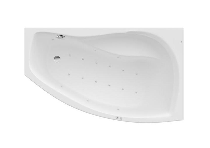 Asymetryczna narożna wanna akrylowa z hydromasażem Smart Air Plus 150x90x45 cm Roca Nicole