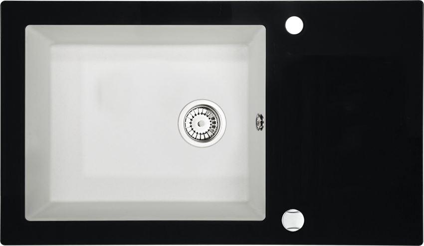 Zlewozmywak szklano-granitowy 1-komorowy z ociekaczem Deante Capella
