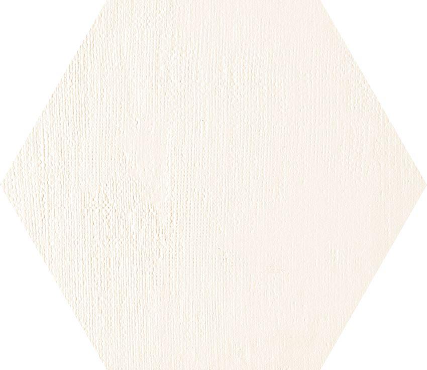 Dekor ścienny 19,2x22,1cm Tubądzin Mild Garden white hex