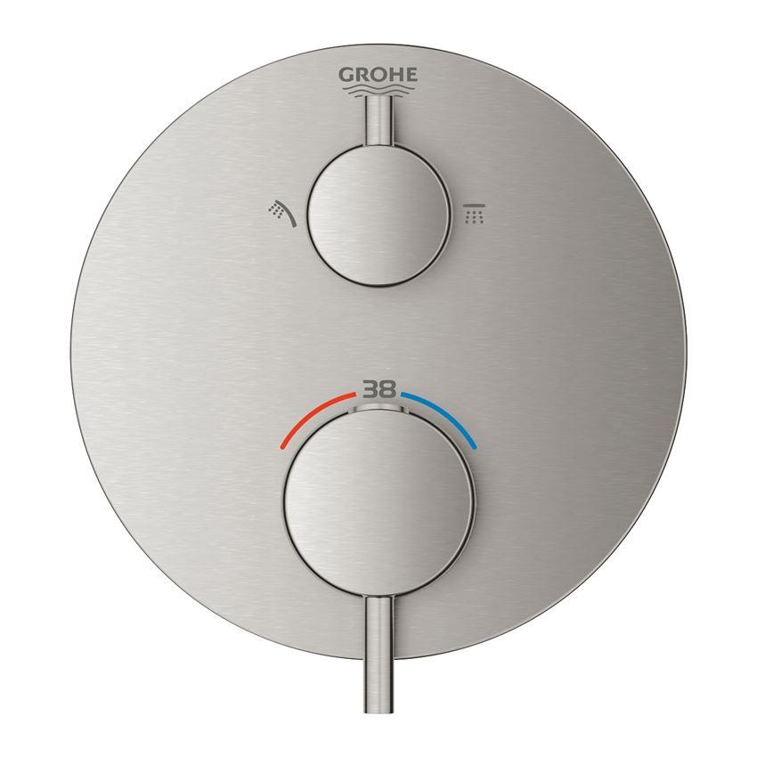 Termostatyczna bateria prysznicowa do obsługi dwóch wyjść wody stal nierdzewna Grohe Atrio