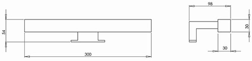 Zestaw oświetleniowy Koło Nova Pro rysunek techniczny