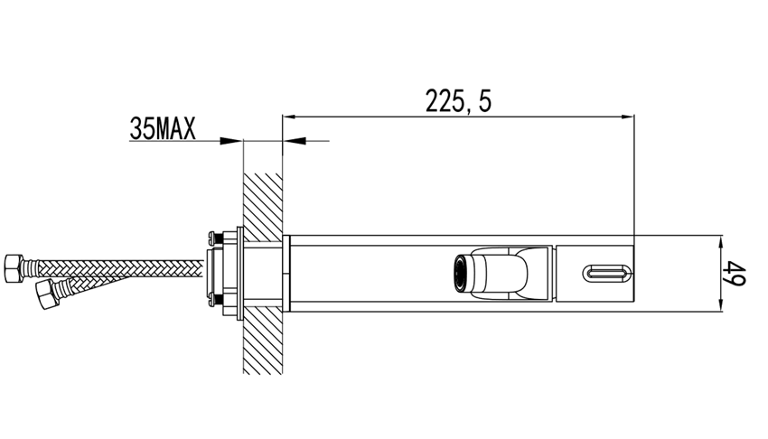 Bateria umywalkowa stojąca FDesign Meandro rysunek