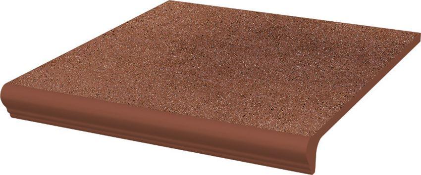Płytka stopnicowa 30x33 cm Paradyż Taurus Brown Kapinos Stopnica Prosta