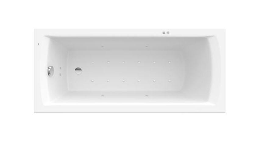 Prostokątna wanna akrylowa XL z hydromasażem Smart Air Plus Roca Linea