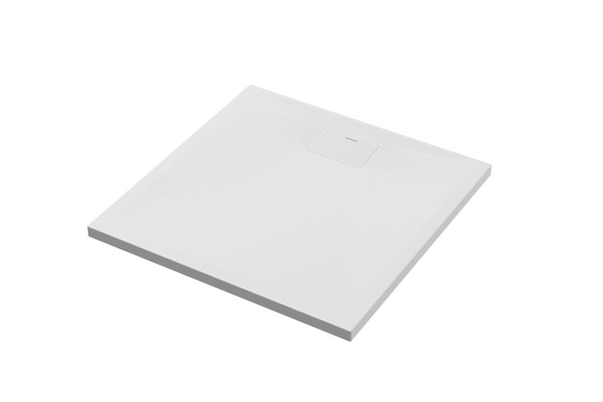 Brodzik akrylowy kwadratowy z klapką 80x80 cm Excellent Zero