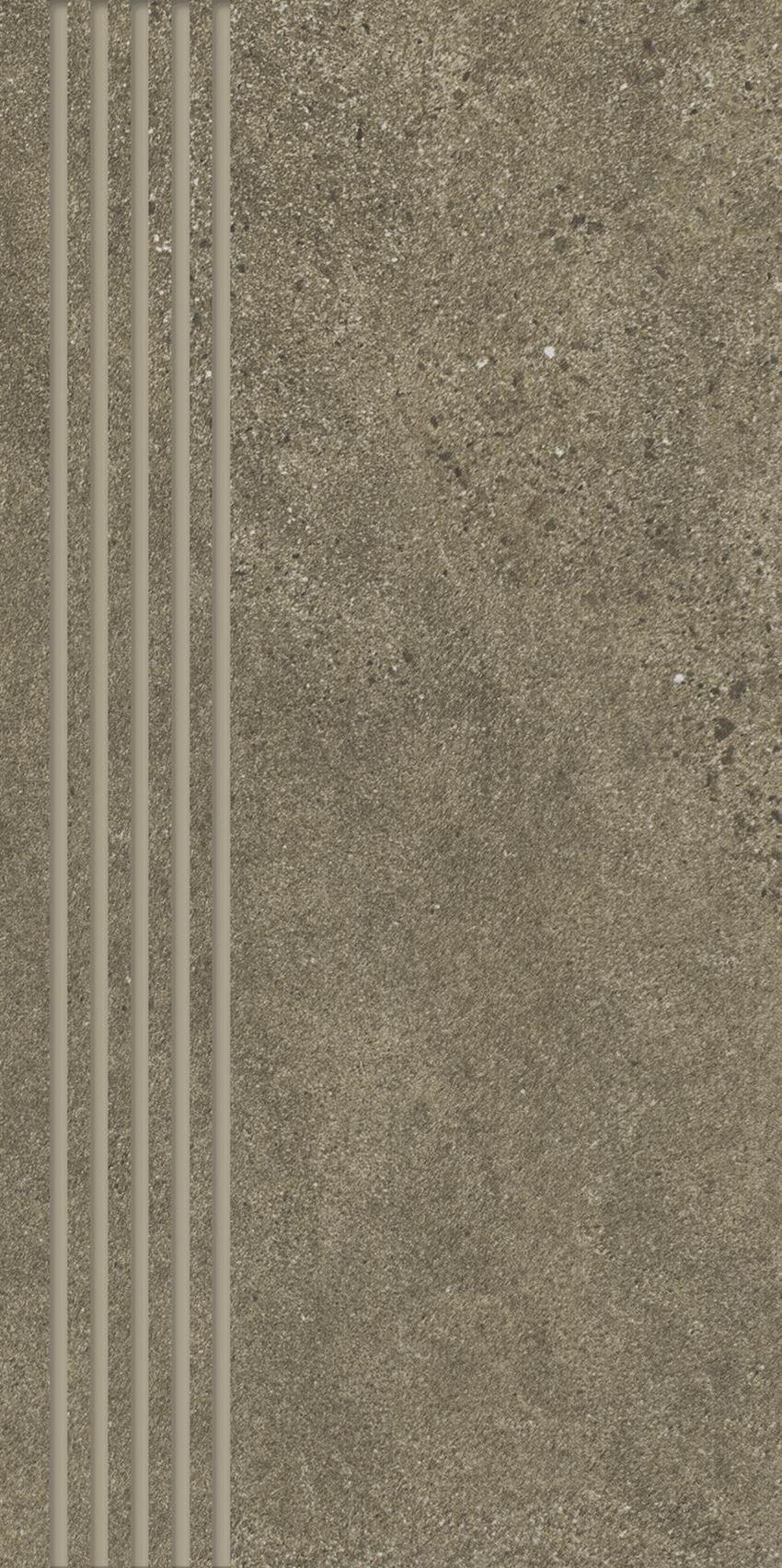 Płytka podłogowa Paradyż Optimal Brown Stopnica Prosta Nacinana Mat.